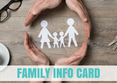 Family Info Card