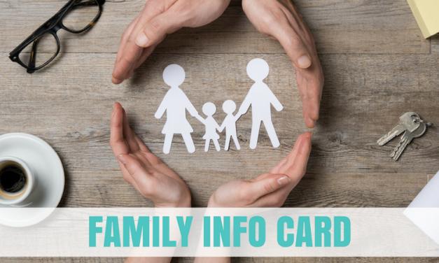 Family Info Card