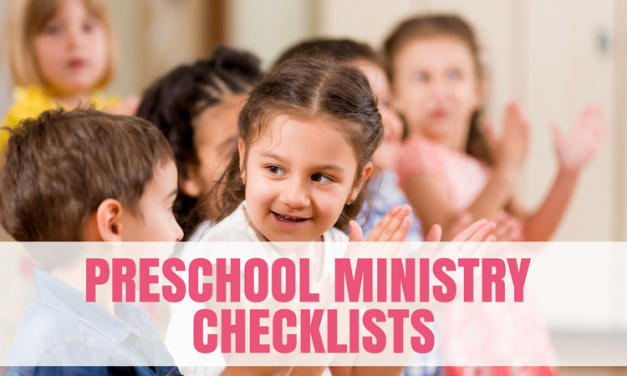 Preschool Ministry Checklists