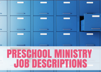 Preschool Ministry Job Descriptions